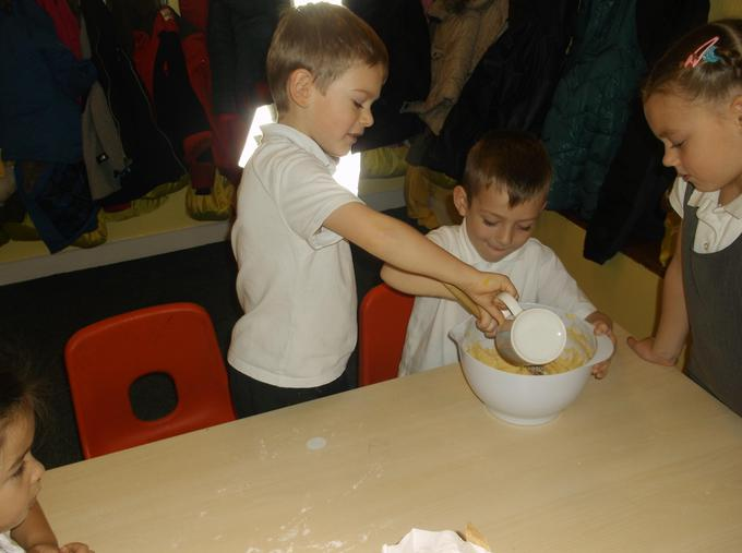 Making cupcakes for children in need
