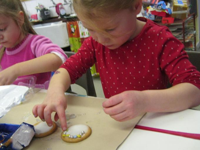 We made lots of spotty biscuits