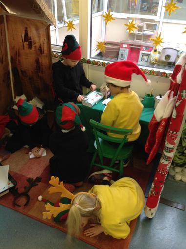 Enjoying Santa's workshop!