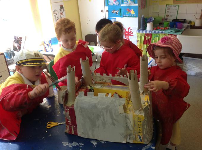 Busy creating our castle
