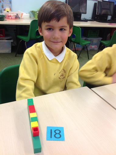 Using dienes to split numbers into tens and ones