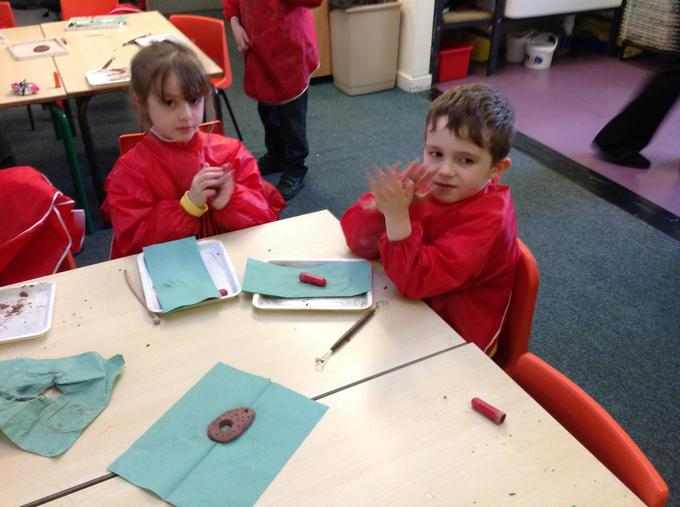 Using clay