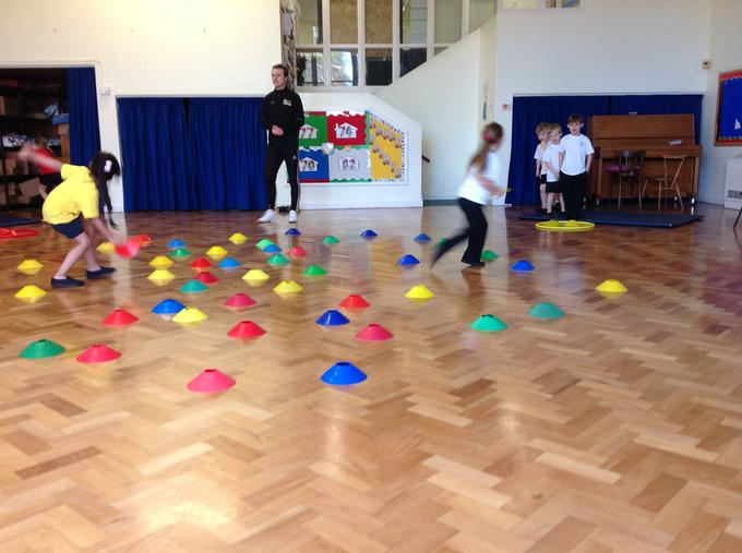 We took part in various games