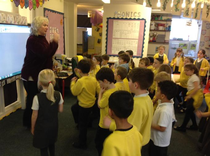 Singing with Miss Keough