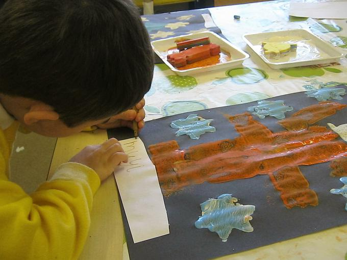 labelling our art work