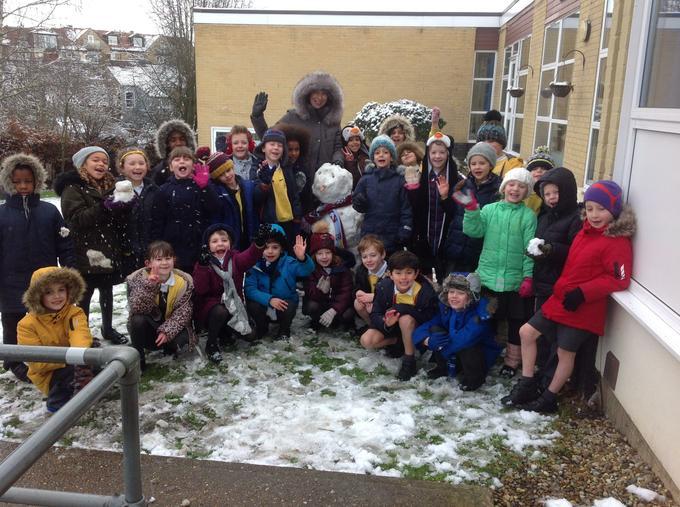 our class snowman !! so much fun!