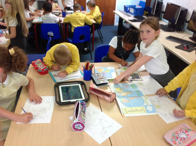 Searching for the names of the continents