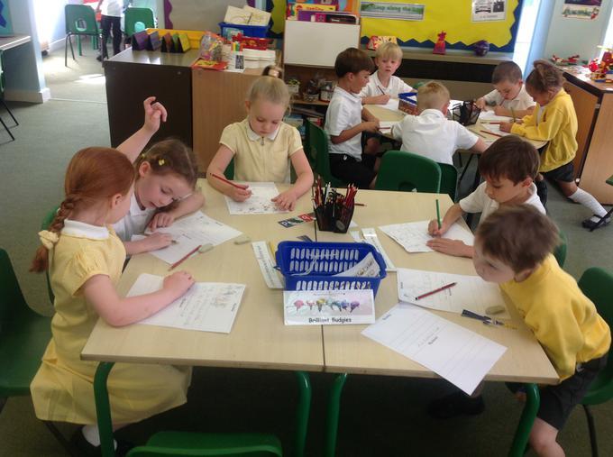 Enjoying writing during Topic