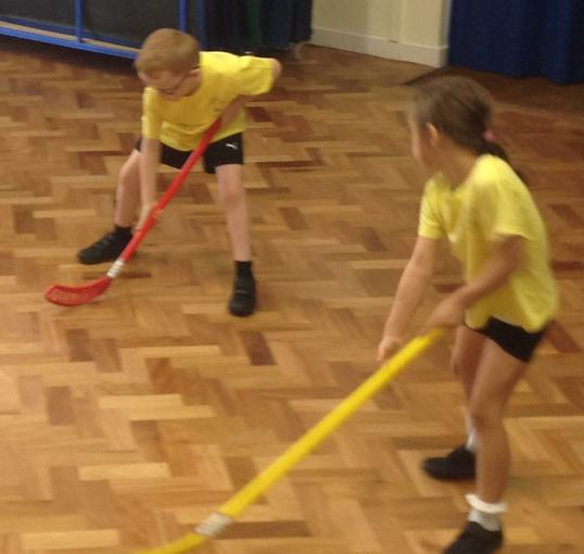 Look at our hockey skills!