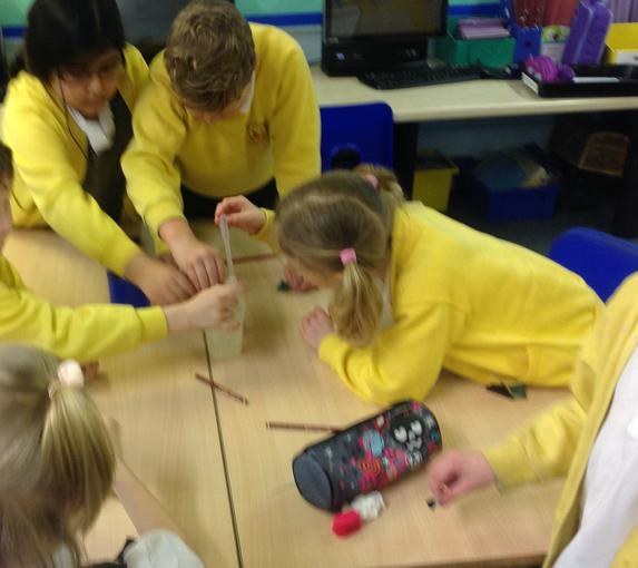 Testing how waterproof each material is