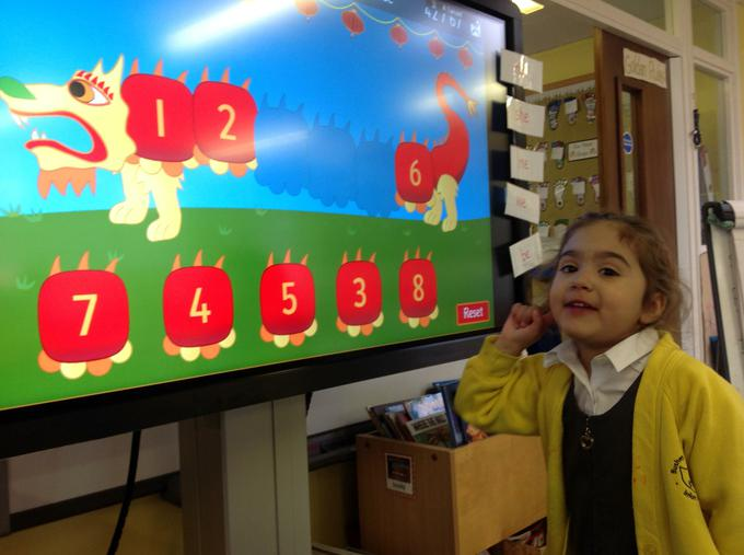 We have been learning to order numbers