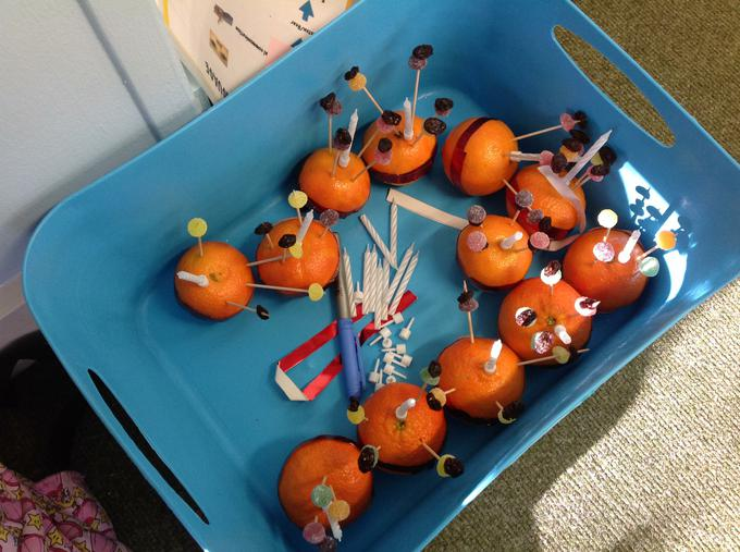Our finished Christingles