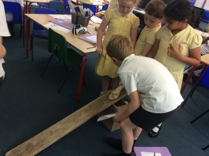 Testing shoes for Mrs Cooper
