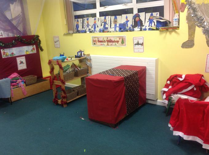Our new role play area, Santa's workshop