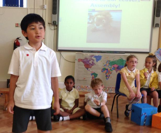 Performing in our final class assembly!