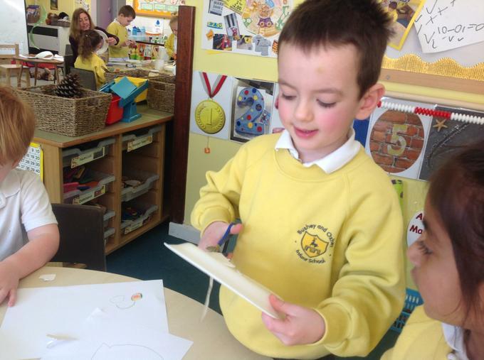 Preparing our bubble wands