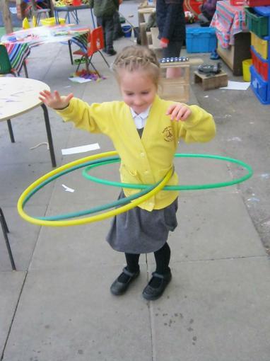 hula-hooping!