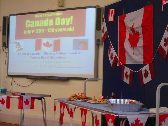 Canada Day assembly