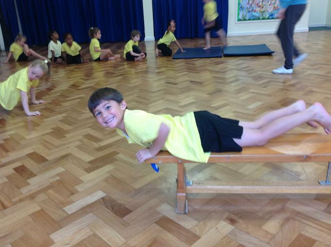 Gymnastics - Travelling over the bench!