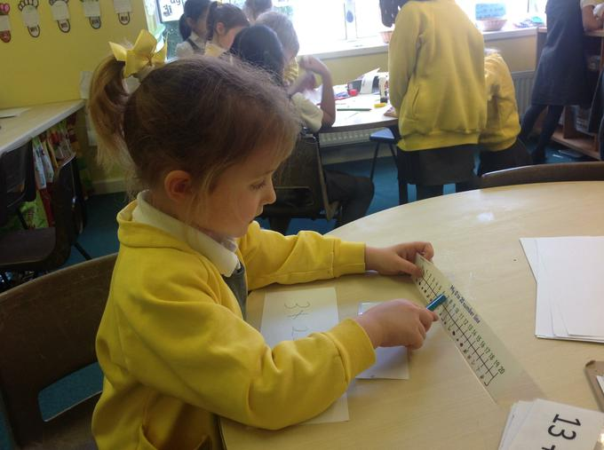 Using a number line to count on