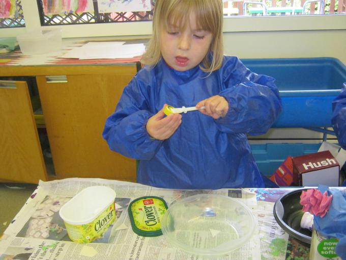 We used glue to attach some pieces
