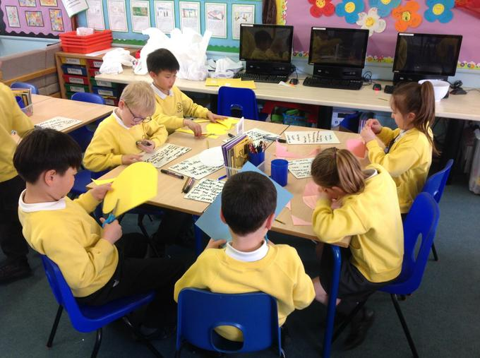 Concentrating on our art work!
