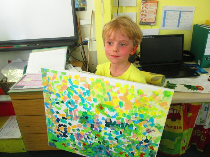 A Monet inspired painting!