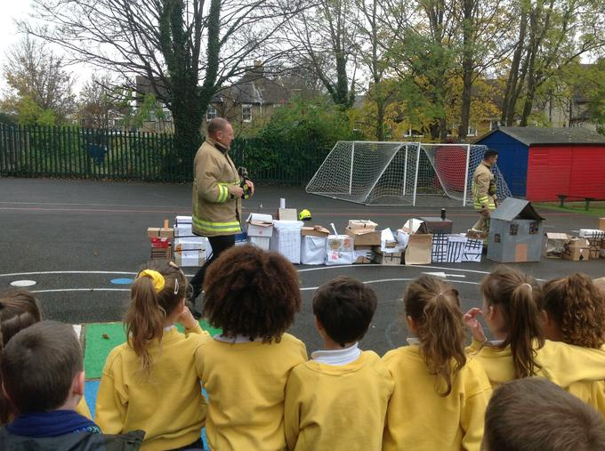 Our visit from the fire service!