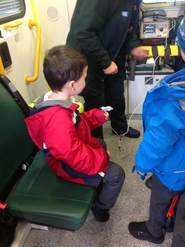 We looked at some of the machines on the ambulance