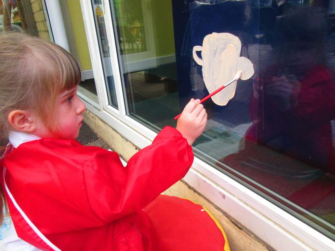 Looking at our reflection in the window