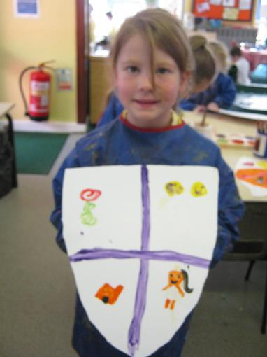 We made our own shields