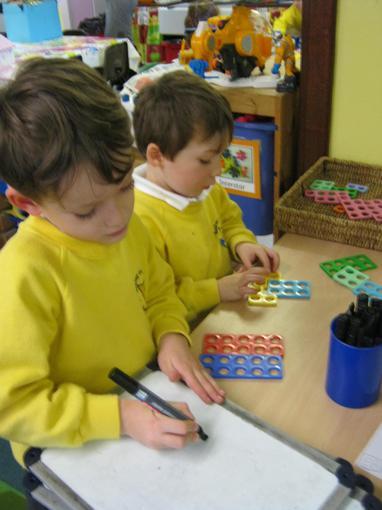 We explored ways to make 10 using Numicon