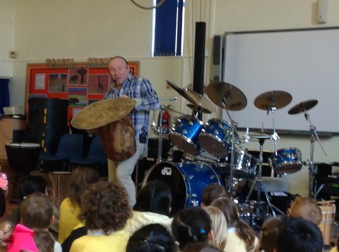 Enjoying our drumming workshop