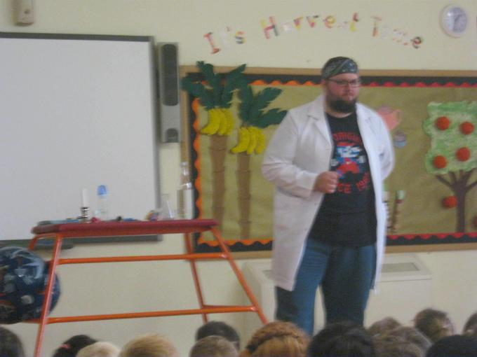 Science assembly with Nitro Nick