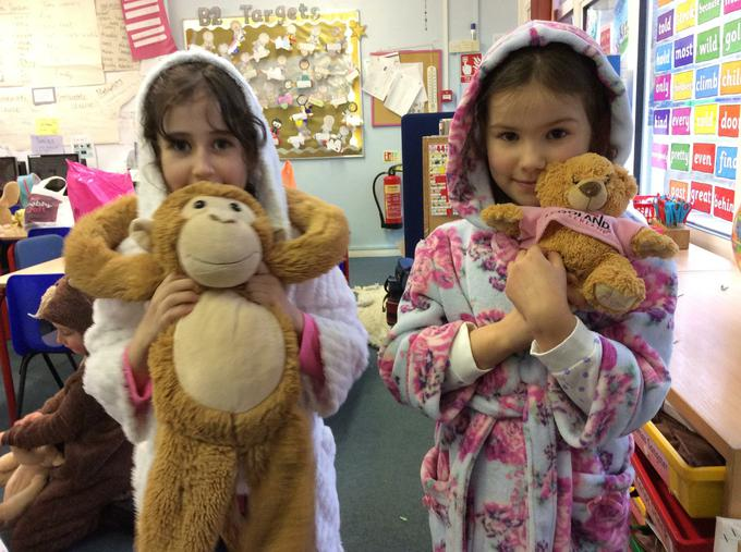 PJ and teddy party!