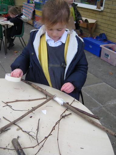We made stick children too