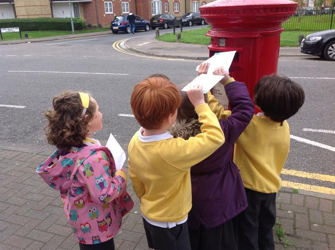 Posting our letters!