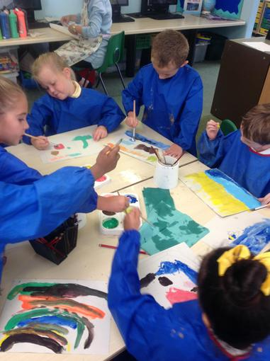 Painting holiday pictures