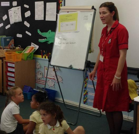 Visit from Mrs Morgan about sun safety