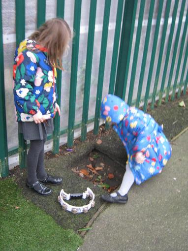 We explored the outdoor area, looking for evidence