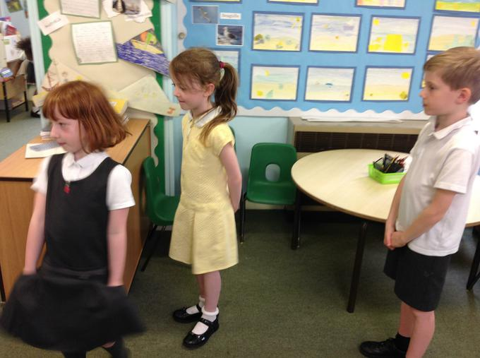 Practising our positional langauage!