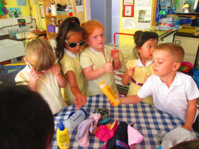 We had a sun safety workshop on Monday