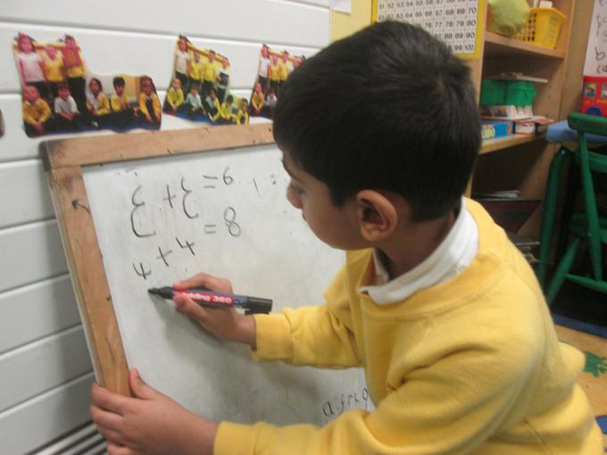 We are learning to write addition calculations
