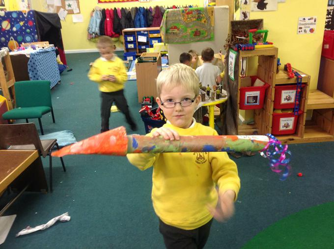 Finally we decorated our rockets