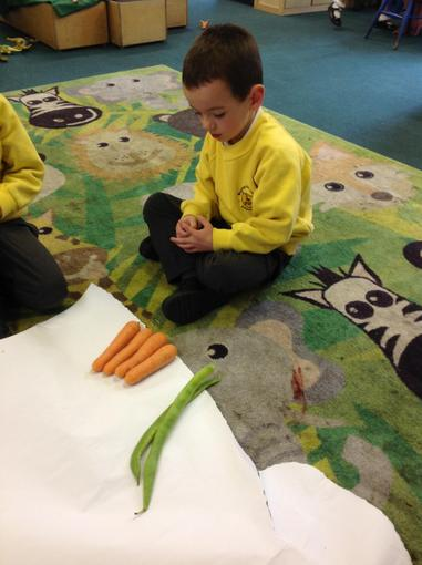 Finding the longest and shortest vegetable
