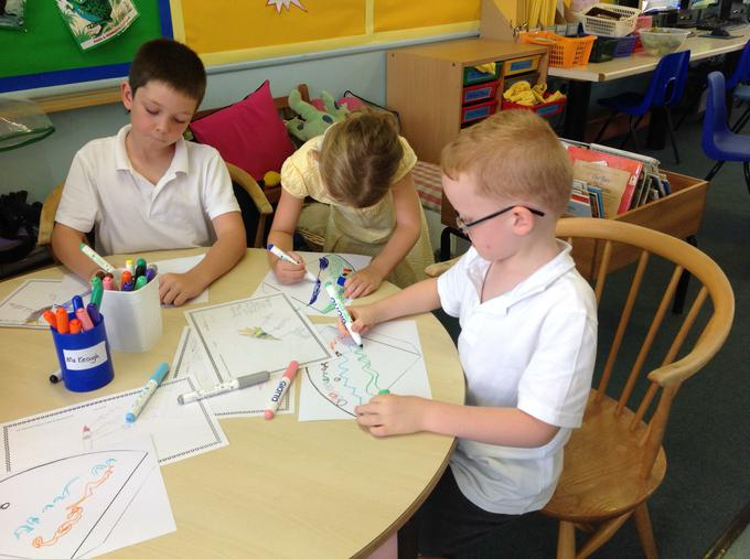 Colouring our torches in Olympic colours