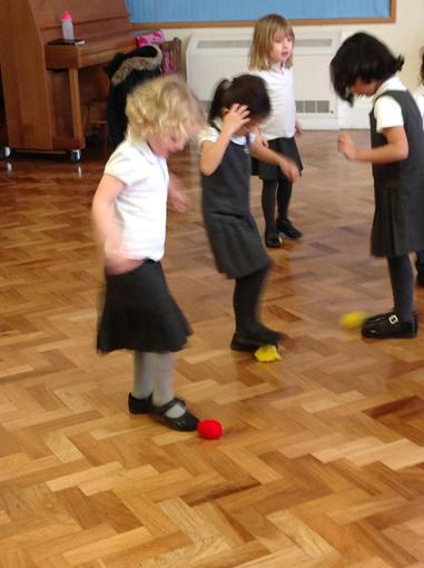 We were learning to control a ball in PE