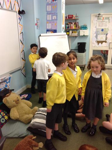 Acting out Little Red Riding Hood