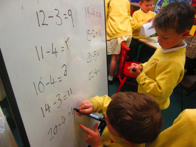 Working on subtraction calculations