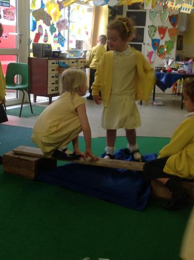 Acting out The Three Billy Goats Guff